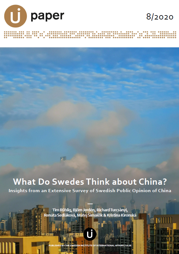 What Do Swedes Think about China? Insights from an Extensive Survey of Swedish Public Opinion of China