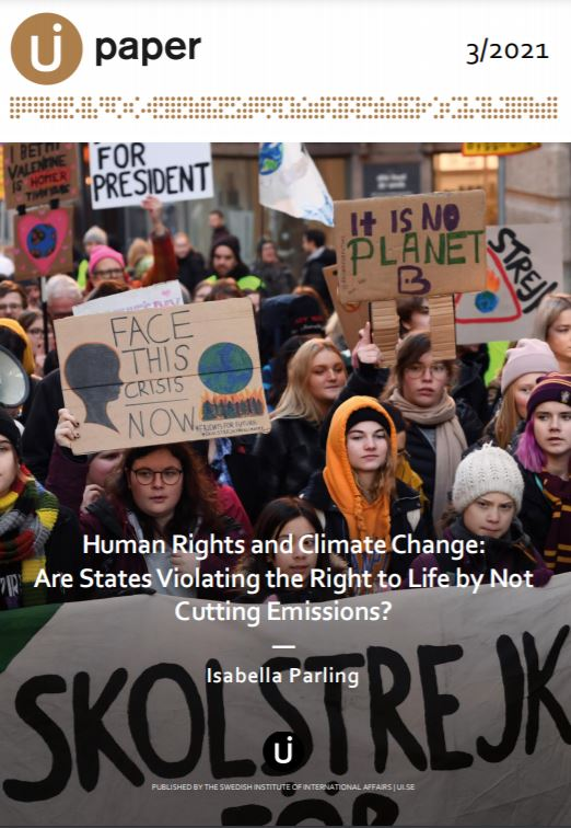 Human Rights and Climate Change: Are States Violating the Right to Life by Not Cutting Emissions?