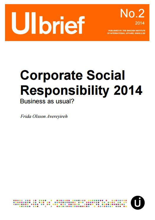 Corporate Social Responsibility 2014 Business as usual?