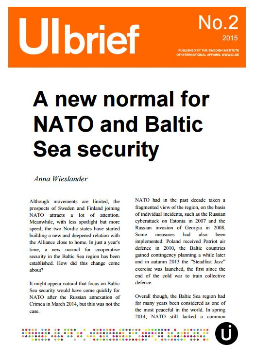 A new normal for NATO and Baltic Sea security