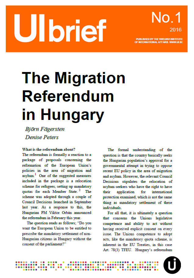 The Migration Referendum in Hungary