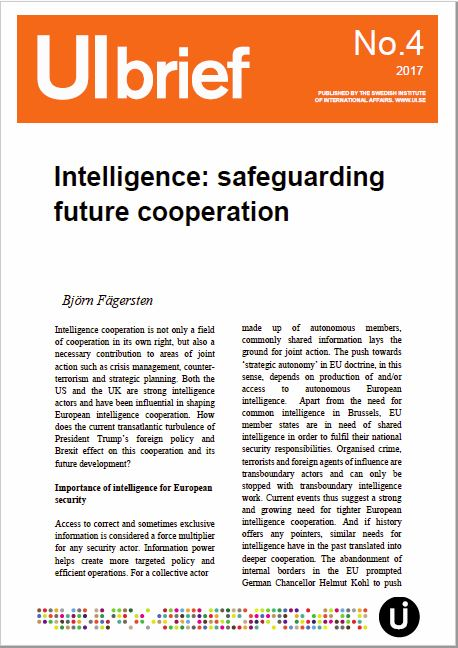 Intelligence: safeguarding future cooperation