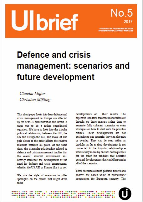 Defence and crisis management: scenarios and future development