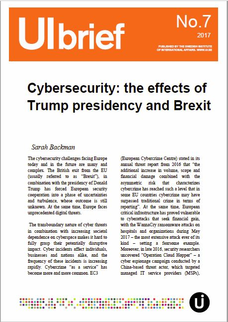 Cybersecurity: the effects of Trump presidency and Brexit