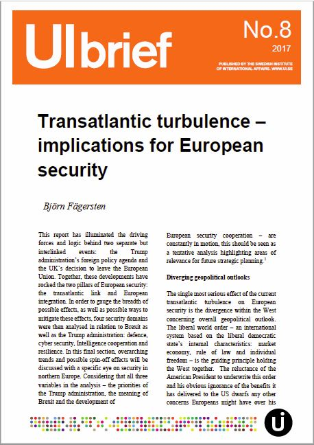 Transatlantic turbulence – implications for European security