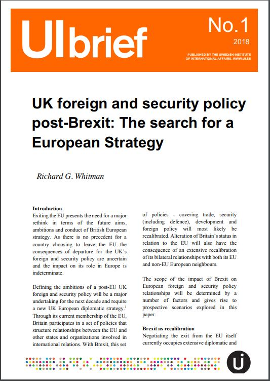 UK foreign and security policy post-Brexit: The search for a European Strategy