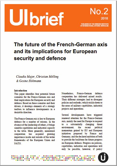 The future of the French-German axis and its implications for European security and defence