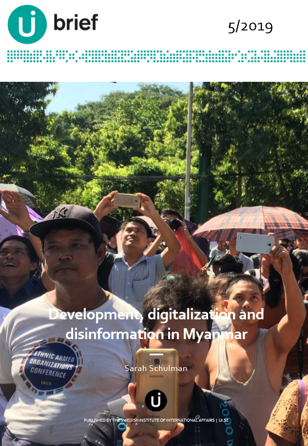Development, digitalization and disinformation in Myanmar