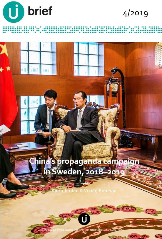 China's propaganda campaign in Sweden, 2018–2019