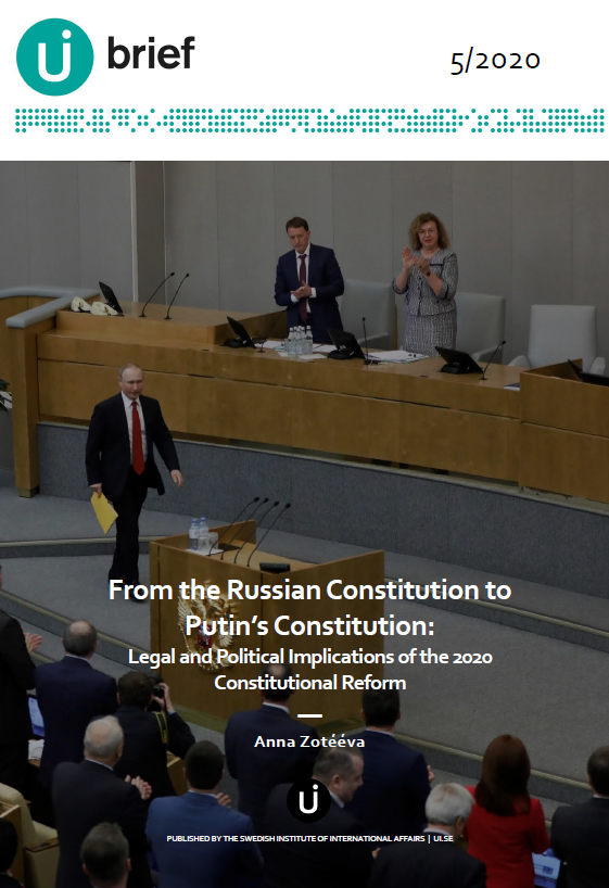 From the Russian Constitution to Putin's Constitution: Legal and Political Implications of the 2020 Constitutional Reform