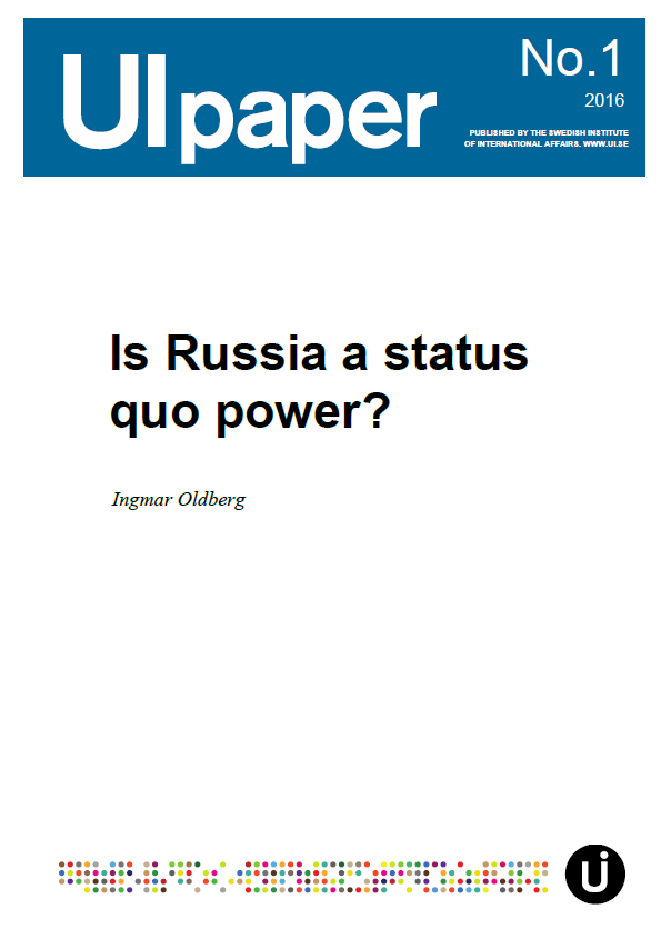 Is Russia a status quo power?