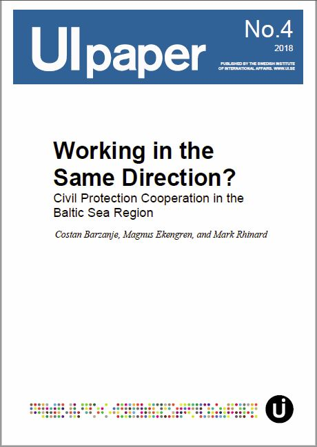 Working in the Same Direction? Civil Protection Cooperation in the Baltic Sea Region