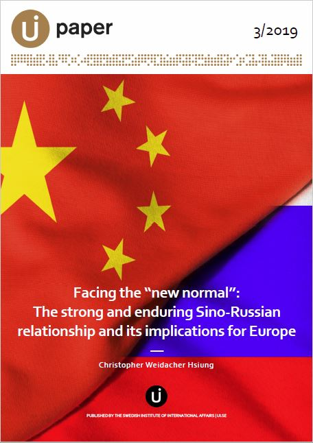 "Facing the ""new normal"": The strong and enduring Sino-Russian relationship and its implications for Europe"