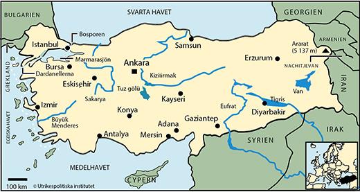 Karta Europa Turkiet.Turkiet Geografi Och Klimat Utrikespolitiska Institutet