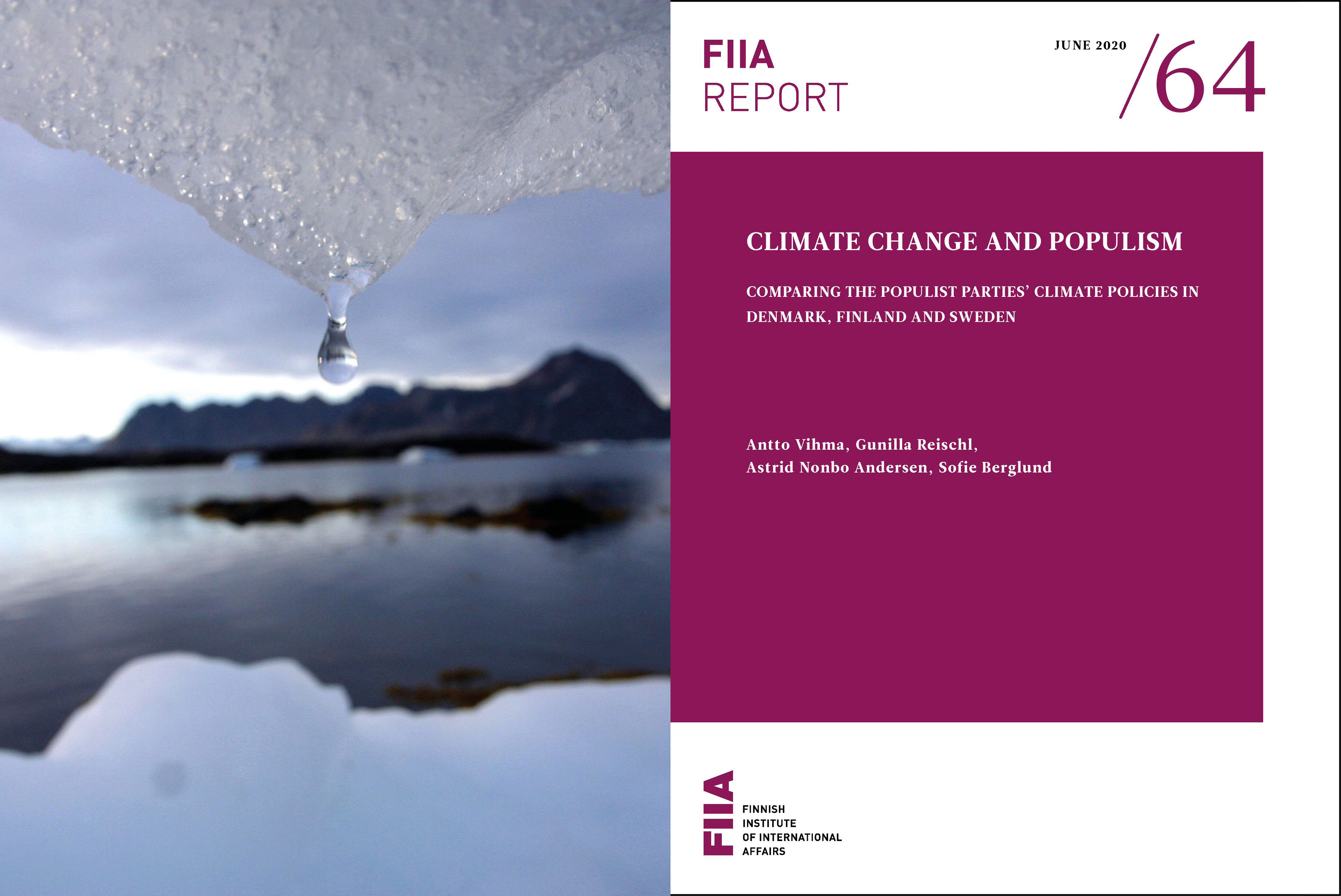 New Report: Climate Change and Populism: Comparing the populist parties' climate policies in Denmark, Finland and Sweden