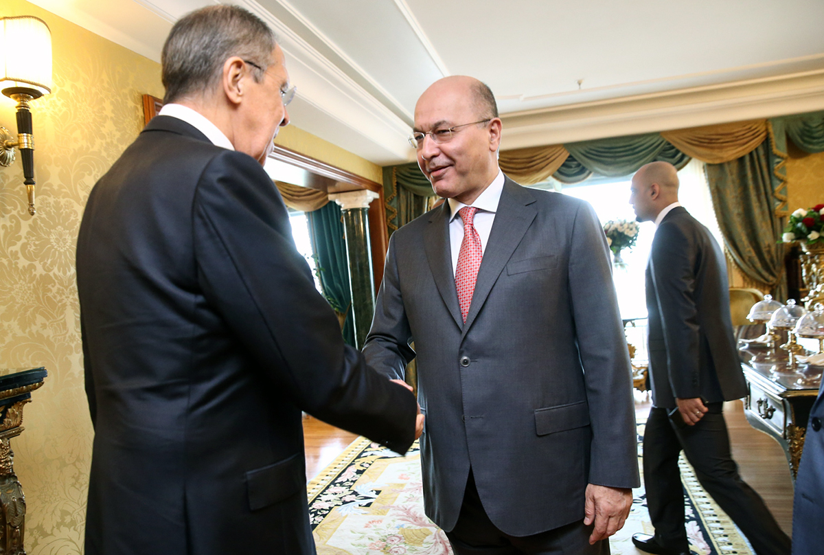 President Barham Salih with Russian Foreign Minister Sergey Lavrov in Rome. Photo: mid.ru/Creative Commons