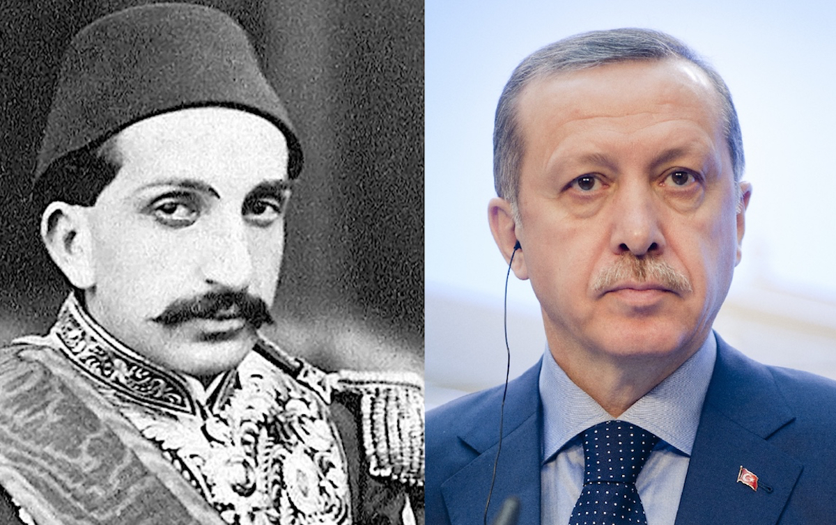 Sultan Abdulhamid II and President Recep Tayyip Erdogan. Photo: Wikimedia Commons/Shutterstock