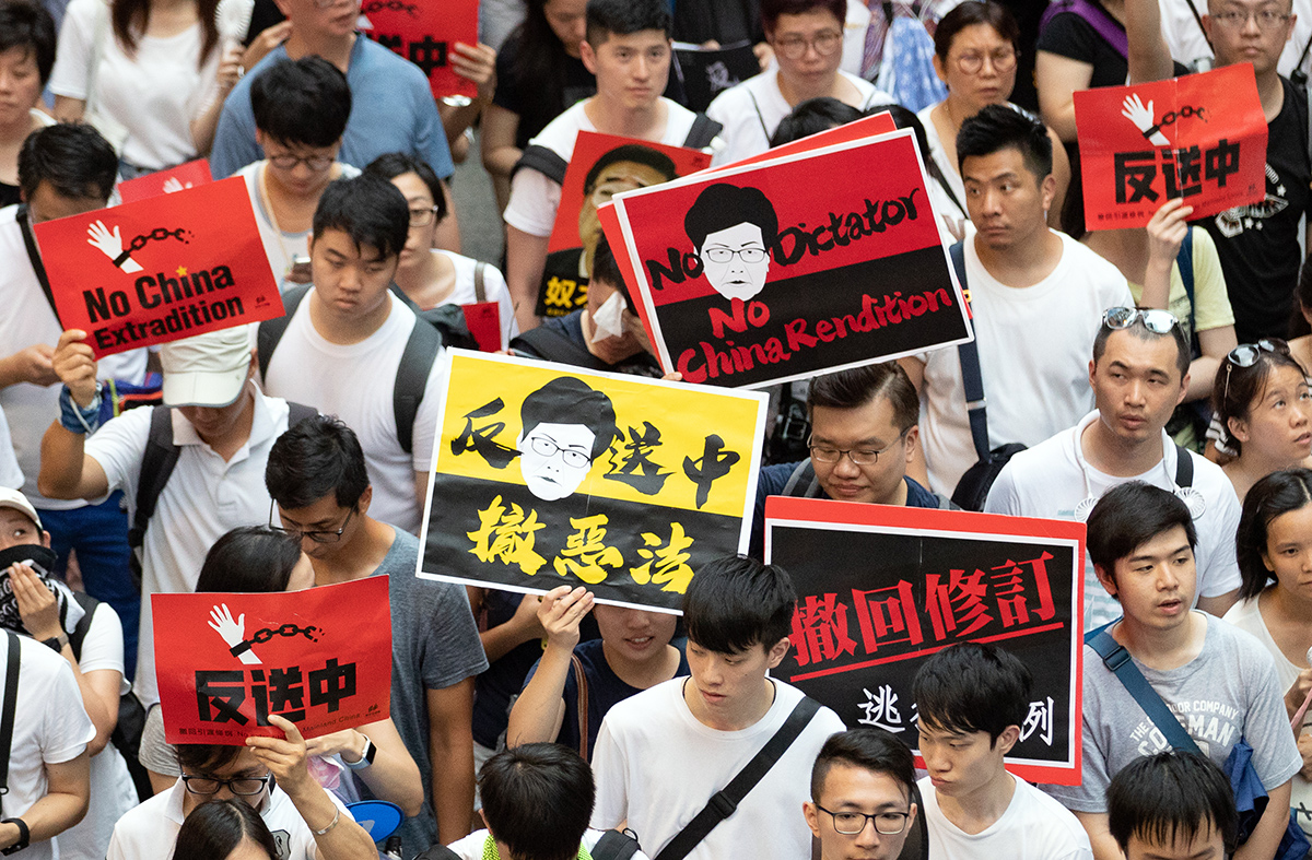 Protest against the extradition bill in Hong Kong June 19. Photo: May James/Shutterstock